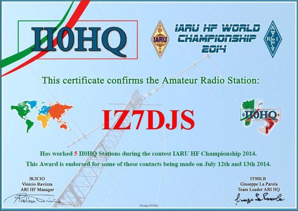 IARU Contest 2014