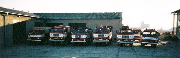Der Fuhrpark im Februar 1998