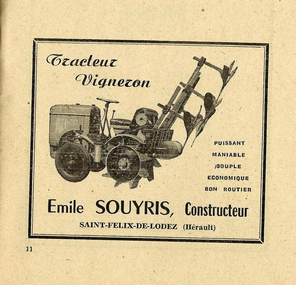 Publicité de 1952