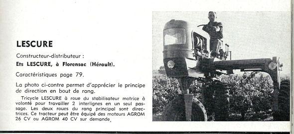 """Sur le livret de """"Motoviticulture"""" de 1963"""