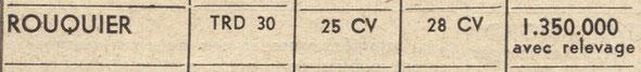 """Tracteur à roues diesel sur la revue """"Marchand réparateur """" du mois de septembre 1956, prix sans T.L."""