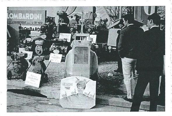 Le Tracteur Le Vini exposé à Paris.