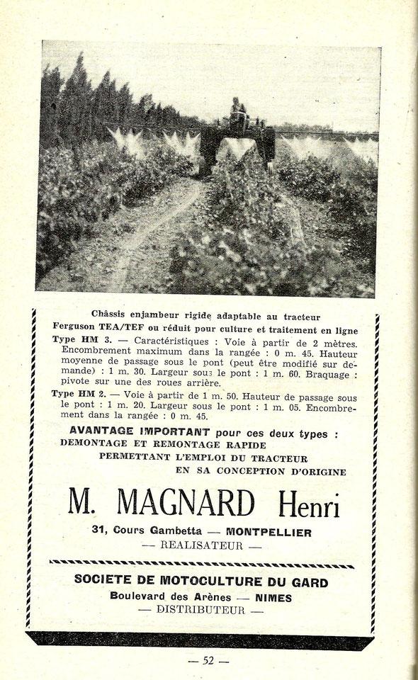 Publicité de 1953