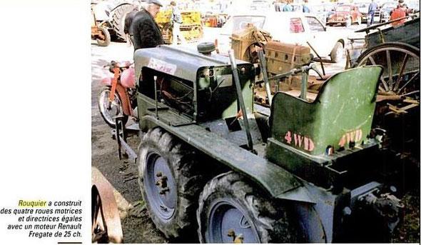 """Sur le livre """"Un siècle de tracteurs agricoles: De la vapeur à l'électronique """" par Jean Renaud  (Rouquier de 1940  à 1959 )"""