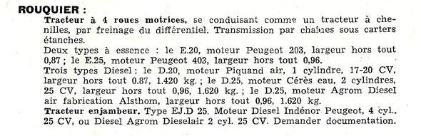 1959 Confirmation qu'il a bien existé un tracteur enjambeur Rouquier !