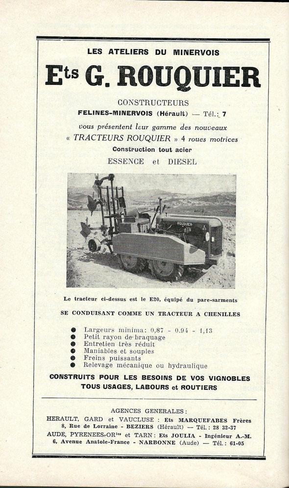 Publicité de 1957