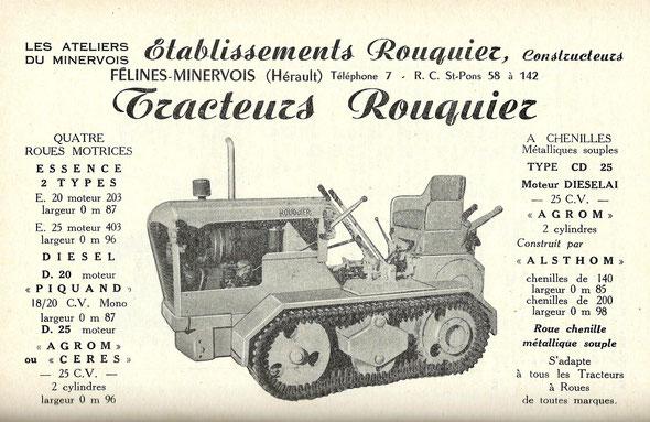 Publicité d'octobre 1959