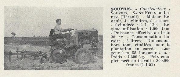 """Sur un livret """"Motoviticulture"""" de 1952."""