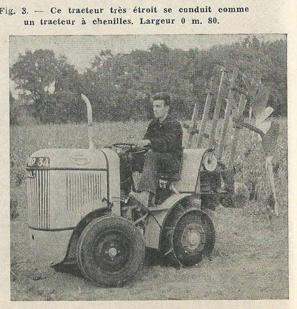 """A propos de la motoviticulture à Montpellier sur la revue """"La Technique Agricole Machinisme Equipement rural de Juillet-aôut 1953 ."""