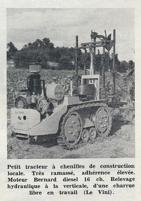 """Photo sur """"Le Marchand Réparateur de Tracteurs et Machines Agricoles """" du mois de Septembre 1962."""