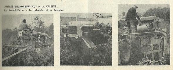 Le tracteur à droite : Est-ce vraiment un enjambeur Rouquier ?