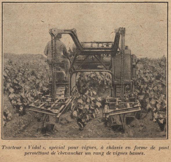 """Photo sur la revue """"L'Agriculture Nouvelle"""" du samedi 14 février 1925,article sur les """"machines nouvelles les plus intéressantes du IVème salon de la machine agricole du 17 au 24 janvier 1925 au parc des Expositions Porte de Versailles"""