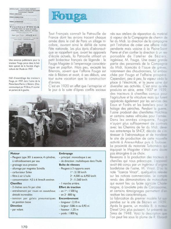 """Livre """" 100ans de tracteurs à chenilles"""""""