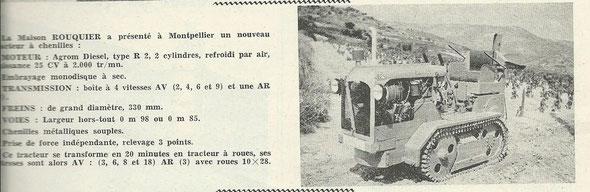 Le marchand réparateur de tracteurs et machines agricoles 1960