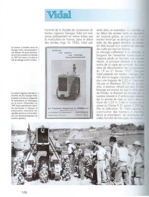 """Livre """"100 ans de tracteurs à chenilles """""""