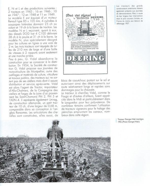 """Livre""""100 ans de tracteurs à chenilles"""""""