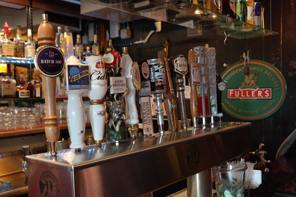 Always the finest selection of beers on tap