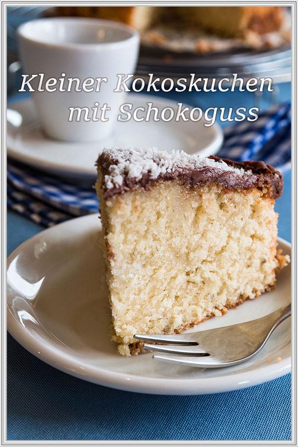Kleiner Kokoskuchen mit Schokoguss-Rezept - Blog © Jutta M. Jenning mjpics