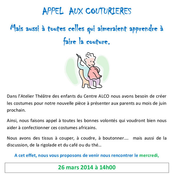 annonce atelier couture