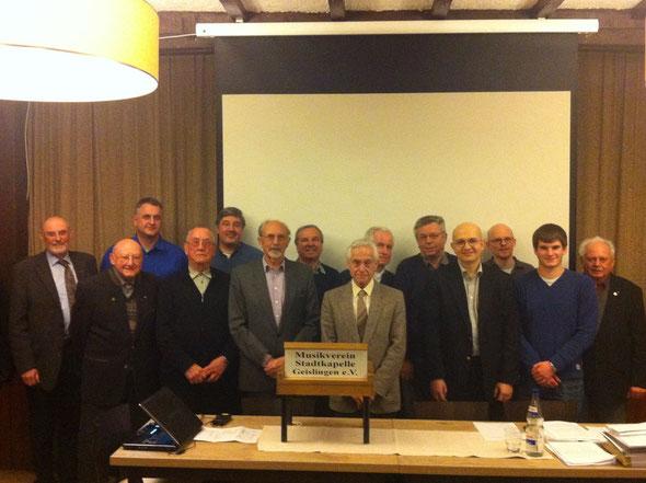 Viele langjährige Mitglieder konnten bei der Hauptversammlung geehrt werden.
