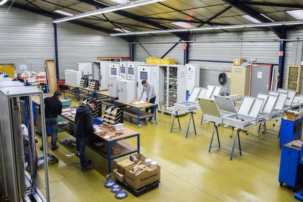 Le pôle atelier de SEGA, où sont réalisées les armoires électriques-Photo SEGA dr.