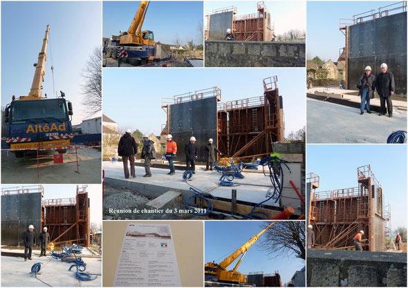 Sur le chantier le 3 mars 2011