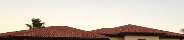 Dachziegel auf der Fläche