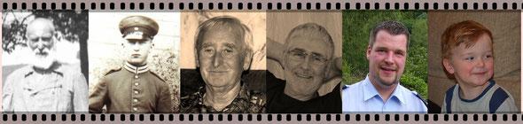 6 Generationen Klimpels: Peter, Karl, Alfred, Gerd, Christian, Henry