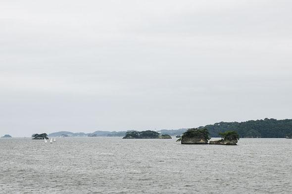 大小様々な群島が並ぶ松島の風景