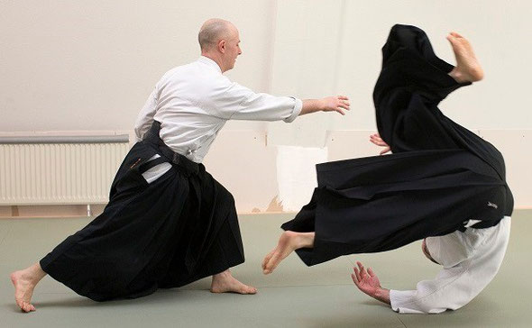 gyaku-hanmi katatedori kaiten-nage