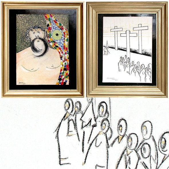 free art eu, Acryl Mischtechnik mit Kohle