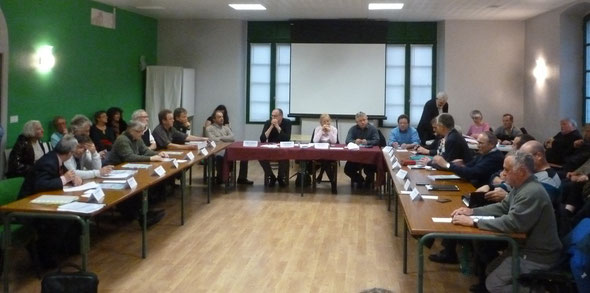 Le nouveau Conseil Communautaire de la Vallée d'Aspe et son bureau élu le 2 mai 2014