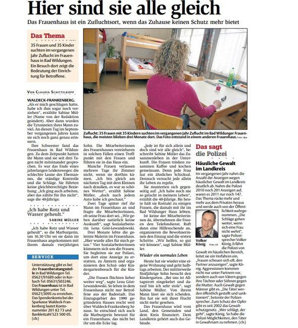 HNA Hessische Allgemeine vom April 2012