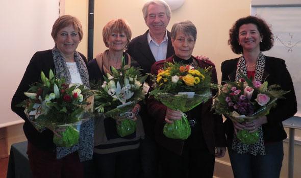 F.  Bourrellier, Jocelyne  Olivain, Patricia Tripier ,  Odile  Boucly,  Nathalie  Matthiesen