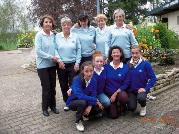 Ladies and girls have done well.... Trois jeunes de l'école de golf ont été intégrées en équipe 2