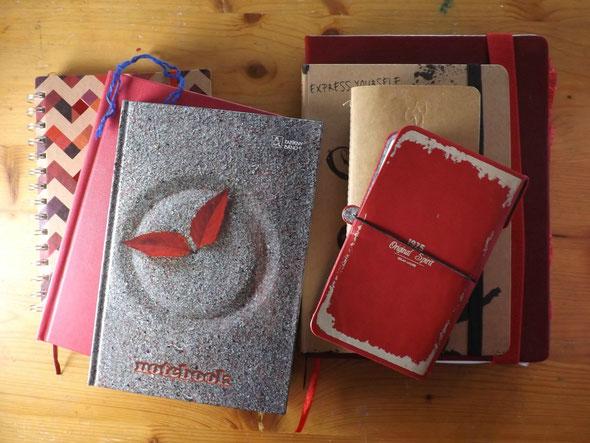sieben notizbücher
