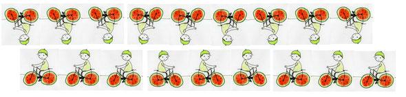 Melonenradmuster