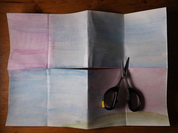 gefaltet und geschnitten - cut and fold