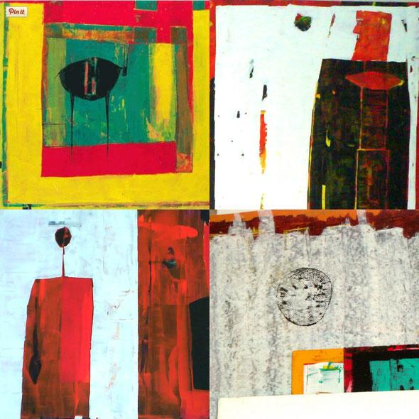Collage mit Arbeiten von Sabine