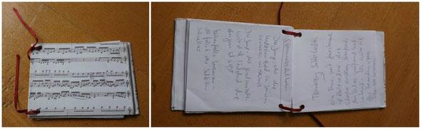 Sommerpost Notizbuch in Gebrauch