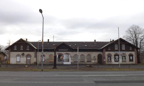 Der Bahnhof in Herrnhut befindet sich zur Zeit im Dornröschenschlaf