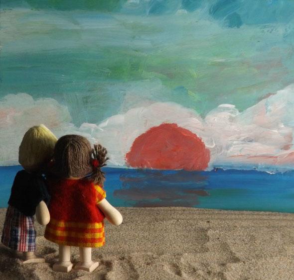Damals wie heute: wir beide und das Meer