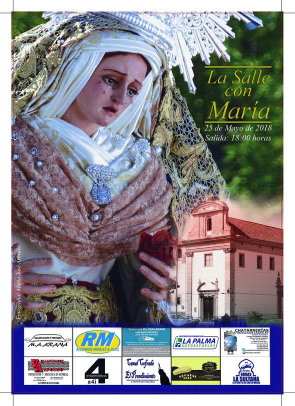 Cartel La Salle con María