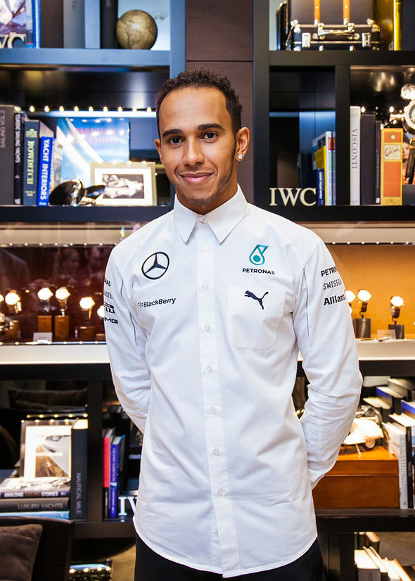 Lewis Hamilton attends IWC event in Moscow 08.10.2014