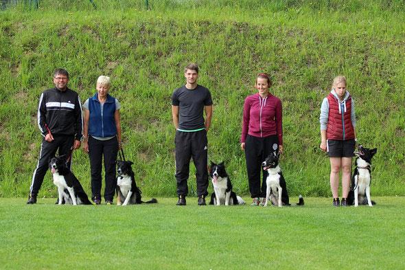 Tom und Birdy, Christine und Batman, Tobi und Buma, Alex und Bo, Nini und Neo