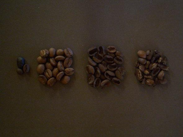 焙煎後の屑豆