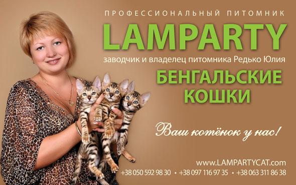 """Бенгальские кошки, питомник """"LAMPARTY"""""""