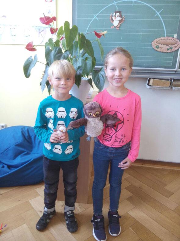 Unsere Klassensprecher Mats und Mia.