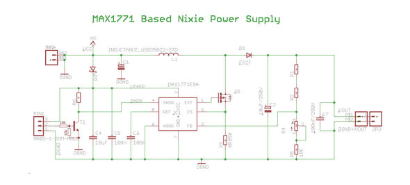 MAX1771 based Nixie Power Supply