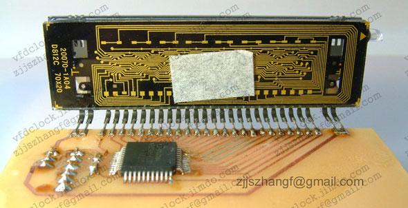 STF16360配合单片机主动扫描的试验电路板